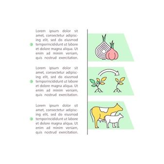 Icona di concetto di allevamento e produzione agricola con testo. selezione geneticamente migliorata.