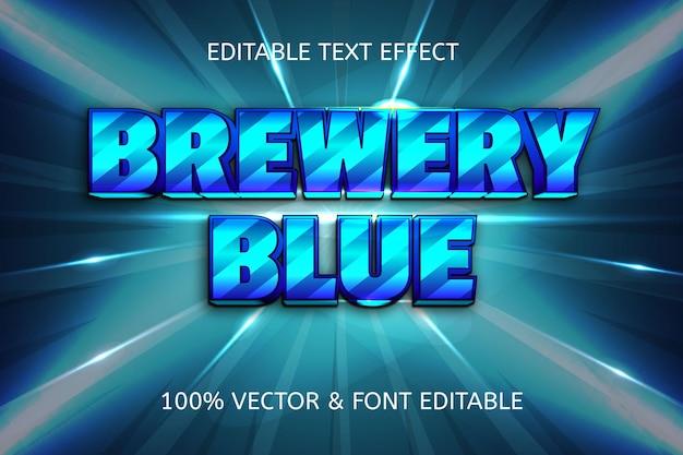 Effetto di testo modificabile a fumetti in stile blu della fabbrica di birra
