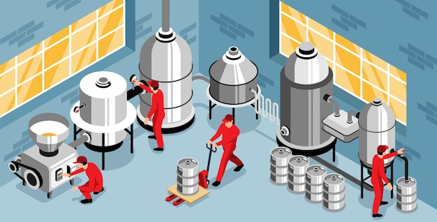 Illustrazione del processo di produzione del birrificio