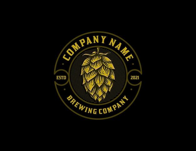 Modello di logo della società di produzione di birra