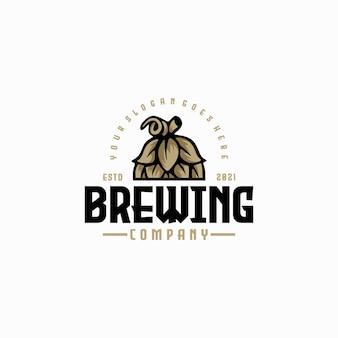 Riferimento vintage del logo della birra