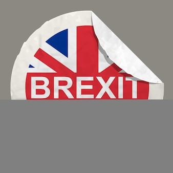 Brexit british referendum concetti simbolo su un'etichetta di carta