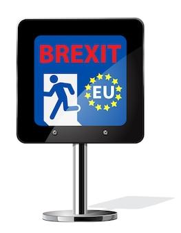 Brexit british referendum concetti simbolo sul segno