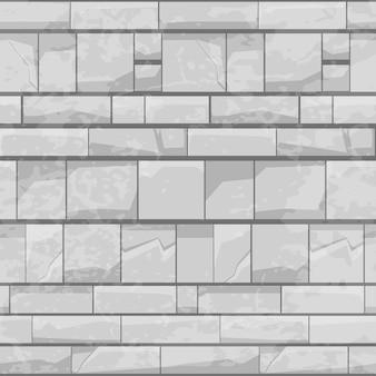 Modello senza cuciture del muro di pietra di mattoni, struttura grigia per carta da parati.