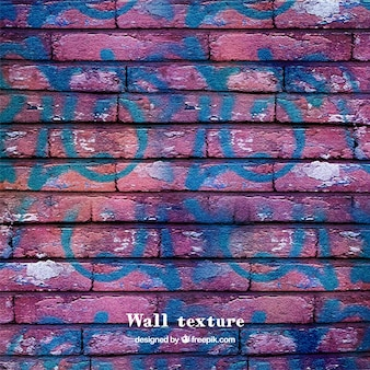Struttura del muro di mattoni con i graffiti