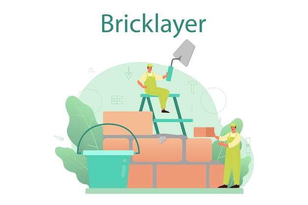 Illustrazione di concetto del muratore