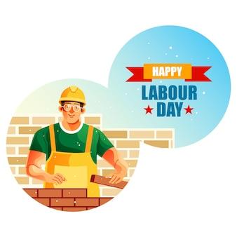 Felice festa del lavoro del muratore