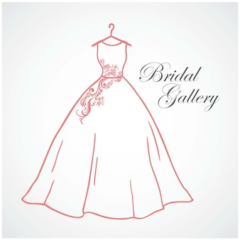 Logo della galleria nuziale modello di disegno vettoriale dell'icona del segno del logo della boutique nuziale di nozze