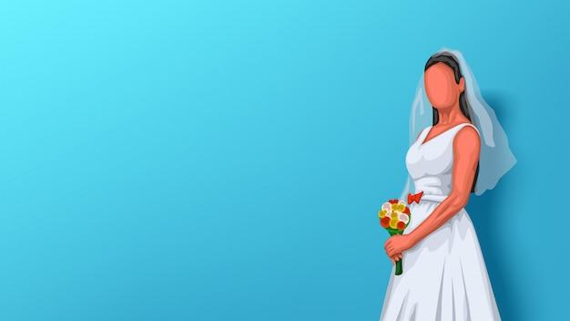 Sposa sull'azzurro