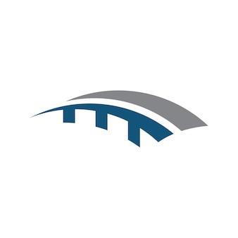 Costruzione del ponte logo design template vector icon