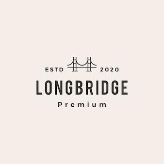 Illustrazione di icona logo vintage hipster di ponte