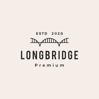 Icona di logo vintage hipster di ponte