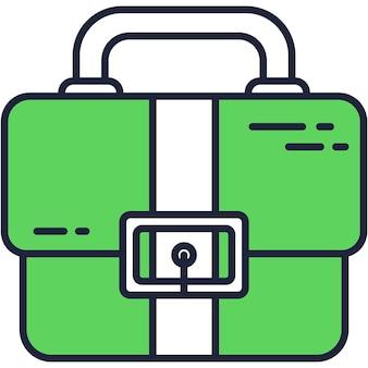 Valigetta icona valigetta per borsa da lavoro vettoriale da lavoro