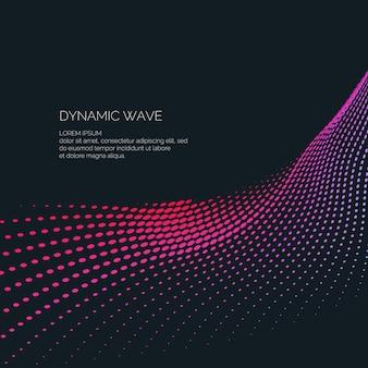 Sfondo astratto luminoso con onde dinamiche di stile minimalista. illustrazione vettoriale per la progettazione di siti web