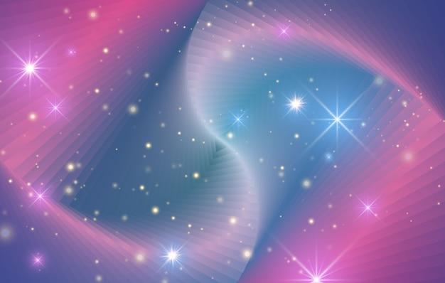 Sfondo sfumato astratto luminoso con forme geometriche e linee curve. effetto olografico.
