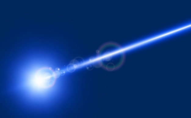 Bellissimi raggi laser luminosi su uno sfondo trasparente. laser scanner.