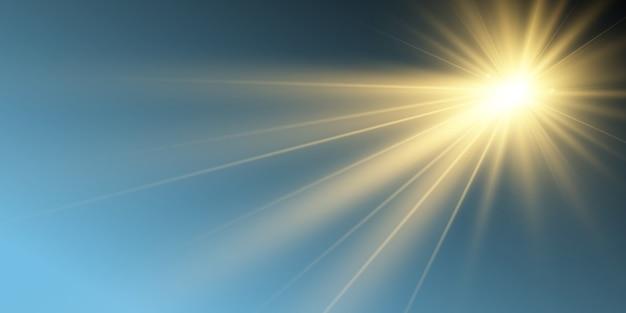 Bellissima stella luminosa. illustrazione di un effetto di luce su uno sfondo trasparente.