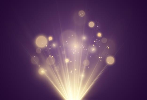 Illustrazione brillante bella stella di un effetto di luce