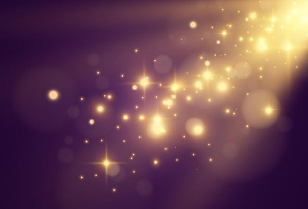 Splendida illustrazione luminosa di un effetto di luce su trasparente