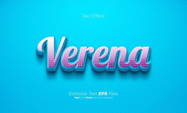 Effetto testo blu brillante con texture 3d