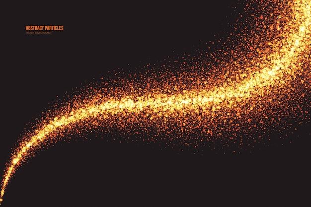 Brillante scintille ardenti particelle incandescenti forma twister