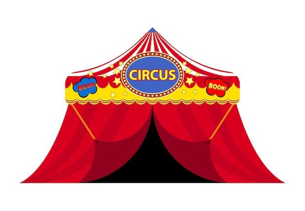 Disegno animato brillante di un circo. illustrazione vettoriale.