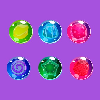 Caramelle lucide colorate luminose con scintillii