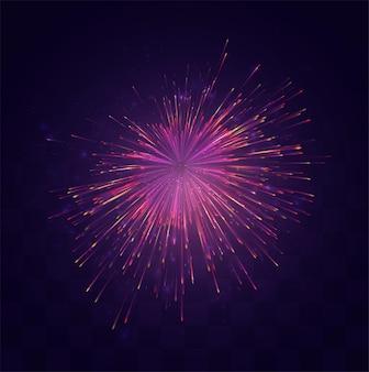 Brillante esplosione festosa di un saluto vettoriale su uno sfondo di mosaico sostituibile, un senso di celebrazione