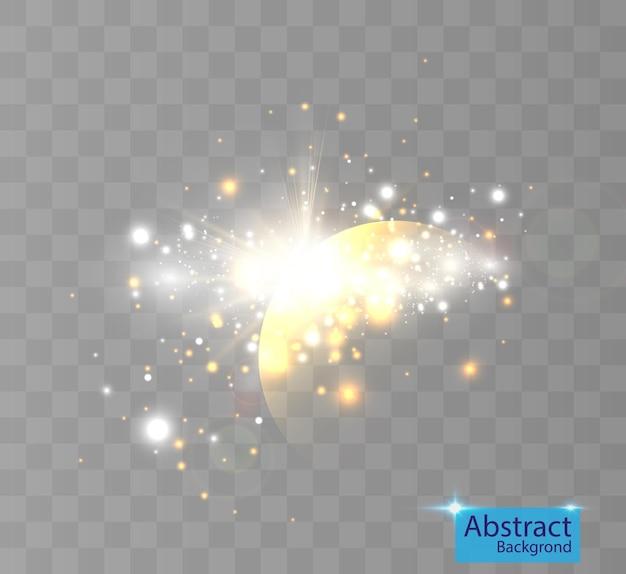Un lampo luminoso di luce tremolante isolato