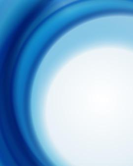 Flash luminoso con turbinio di onde blu sullo sfondo.