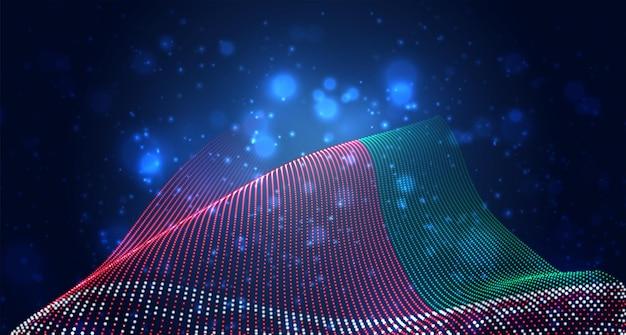 Bandiera del paese incandescente brillante di punti astratti. bielorussia