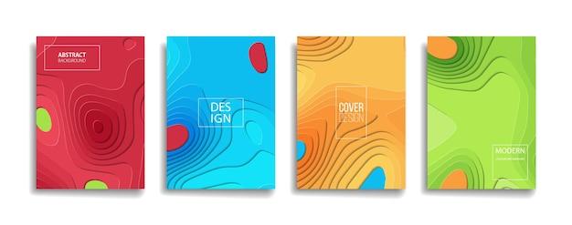 Disegno di copertina del fondo del modello di linea astratta di colore sfumato brillante. design di sfondo moderno con colori vivaci alla moda e vivaci. modello di copertina di vettore del manifesto del manifesto del cartello verde arancione rosso viola blu.
