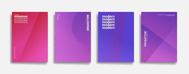 Disegno di copertina del fondo del modello di linea astratta di colore sfumato brillante.