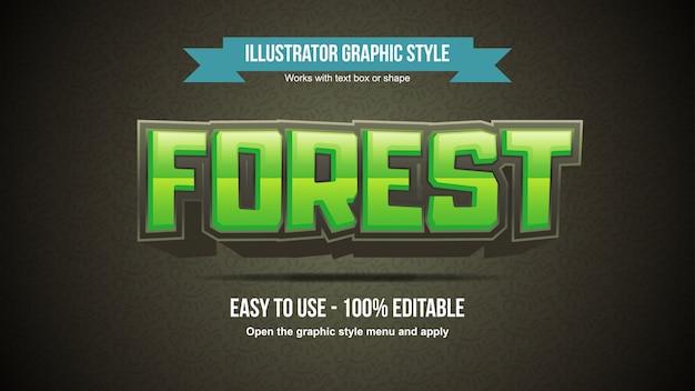 Tipografia modificabile cartoonish grassetto verde intenso 3d