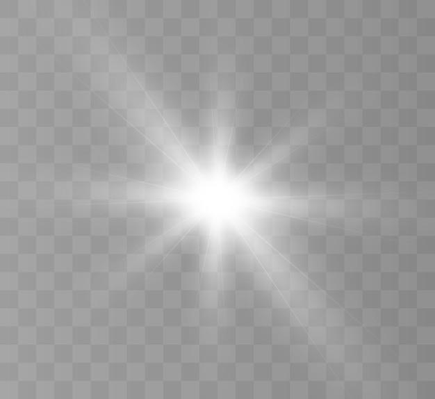 Effetto di luce brillante con raggi e luci per l'illustrazione vettoriale