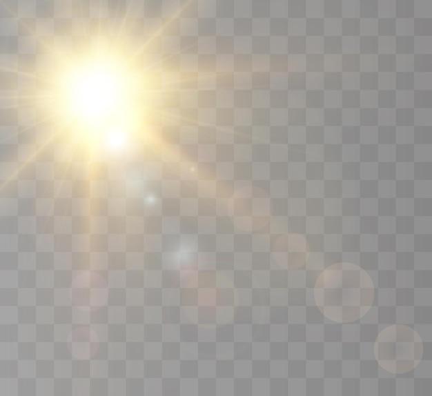 Effetto luce brillante con raggi
