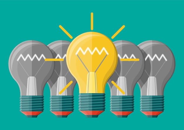 Lampadina idea luce brillante