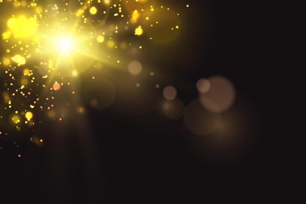 La luce brillante del sole luce solare trasparente riflesso dell'obiettivo solare anteriore