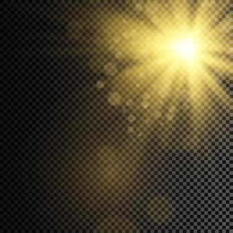La luce brillante del sole luce solare trasparente effetto luce riflesso lente speciale lente solare anteriore