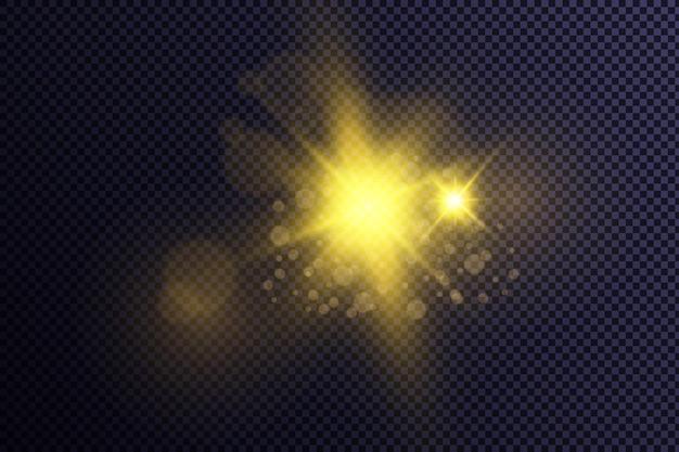 La brillante luce del sole luce solare trasparente