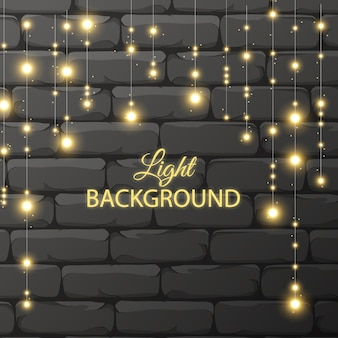 Sfondo di ghirlande di luci luminose