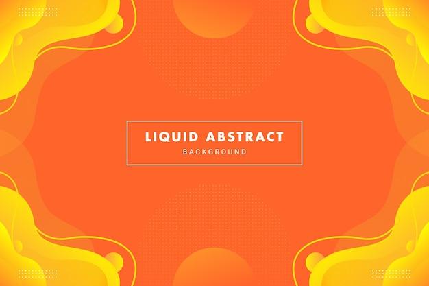 Flusso liquido astratto arancione brillante per banner opuscolo flyer o modello di sfondo presentazione