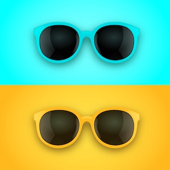 Luminosi realistici occhiali da sole 3d