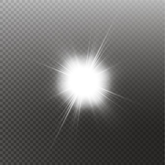 Sole splendente luminoso isolato sul nero
