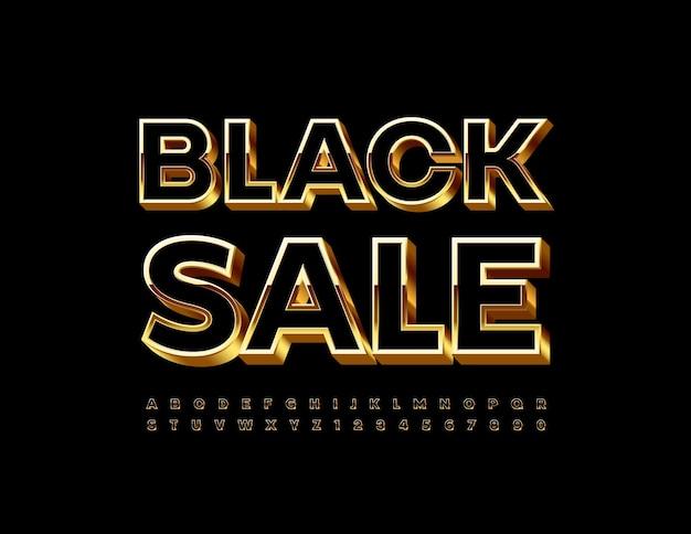 Segno luminoso nero vendita moderno elegante carattere 3d set di lettere e numeri di alfabeto di lusso