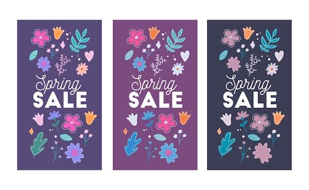 Design luminoso di vendita di primavera.