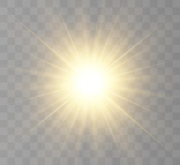 Stella luminosa. bellissimi raggi