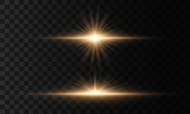 Stella luminosa, sole splendente, effetto luce