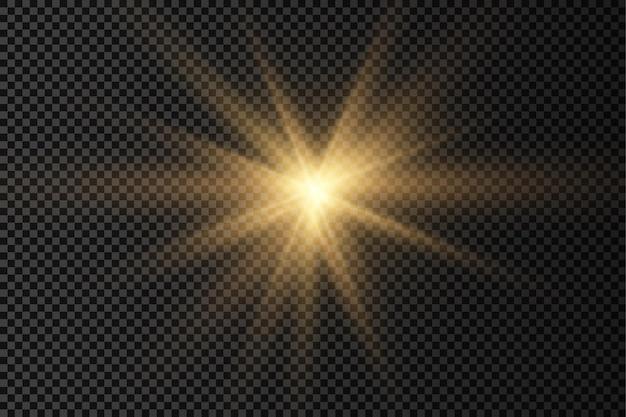 Stella luminosa su sfondo trasparente