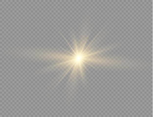 Stella luminosa gialla luce incandescente